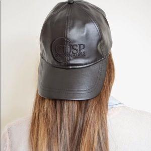 Nieman Marcus Cusp faux leather baseball cap